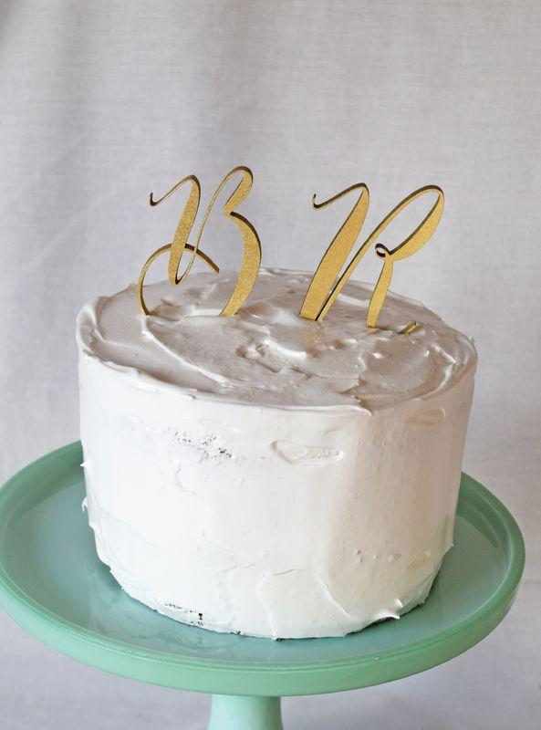 Cake Topper Monogram