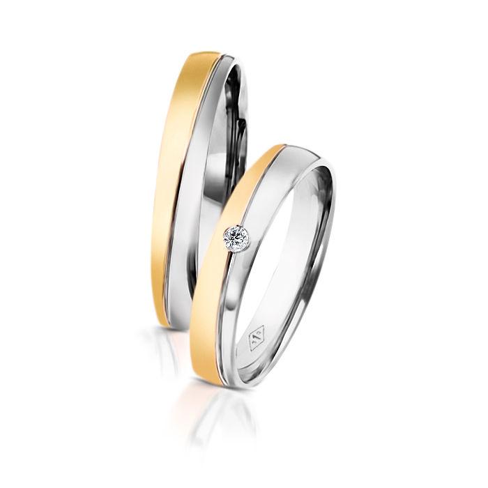 Desde 565 euros Alianças Romeu Julieta Dos Santos Jewellery em ouro branco e amarelo e diamante