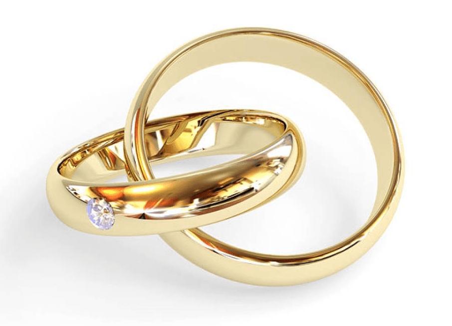 Aros de Matrimonio en Oro Amarillo Fino 18K