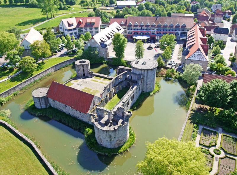 Beispiel: Luftaufnahme, Foto: Göbel's Schlosshotel.
