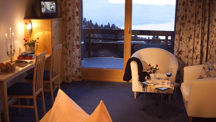 Beispiel: Zimmer, Foto: Hotel Schönblick.