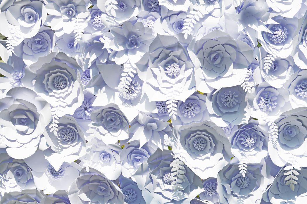 Mural de flores de papel (backdrop)