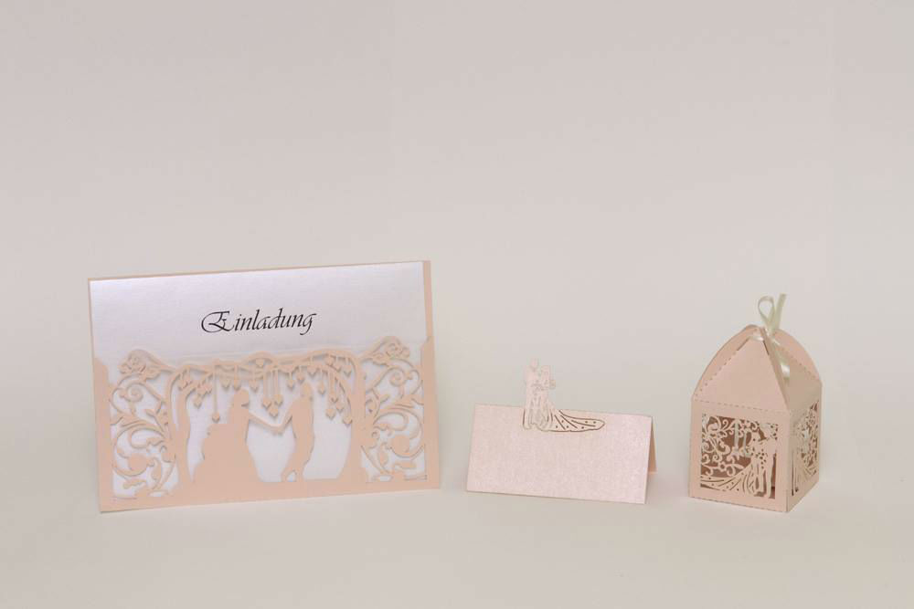 Beispiel: Hochzeitspapeterie, Foto: Hochzeitlädchen.