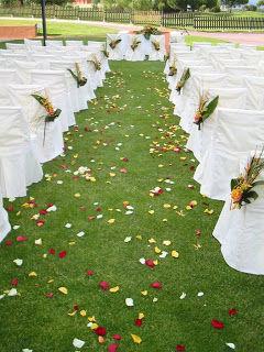 Decoración exterior boda