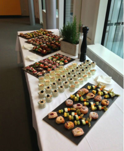 Beispiel: Fingerfood, Foto: MS-Catering.