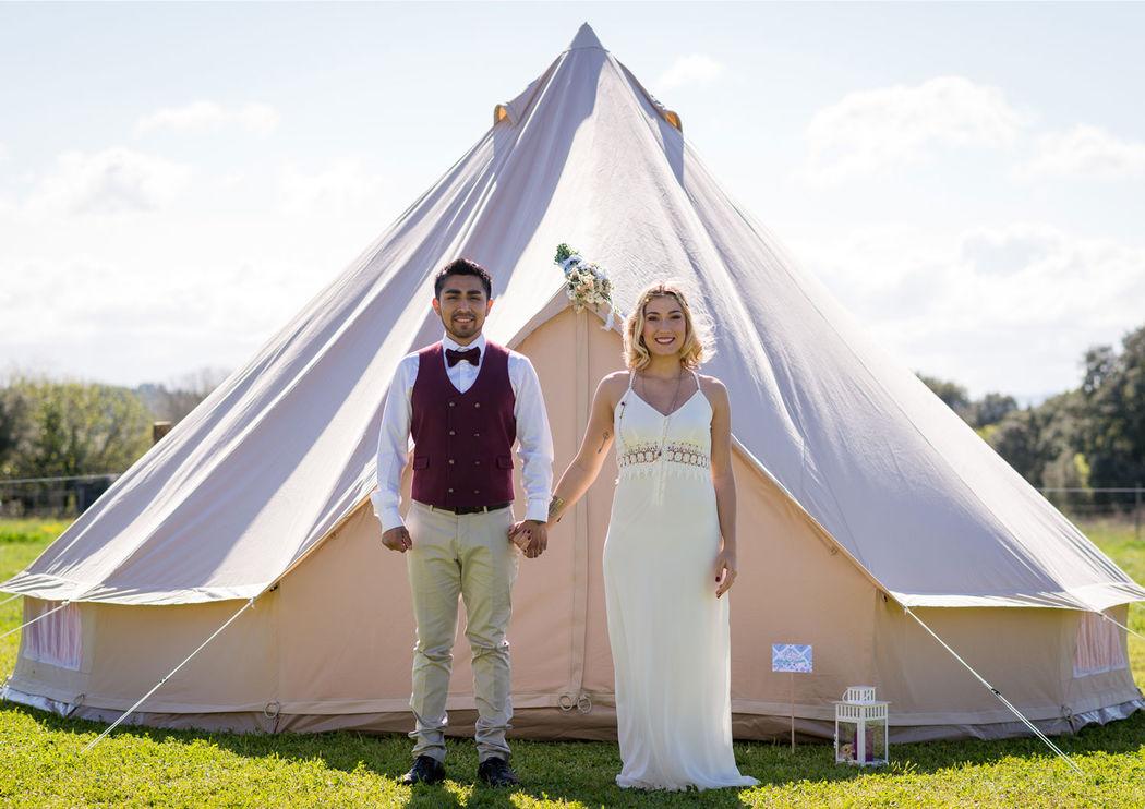 Wedding Camping au Mas de la Rivoire Crédits photo : Laura Michel - Mon Wedding Camping