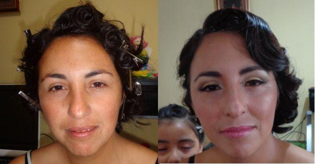 Antes y después novia