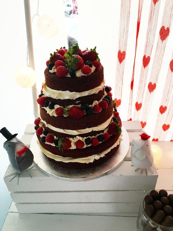 Tarta nude cakes frutas