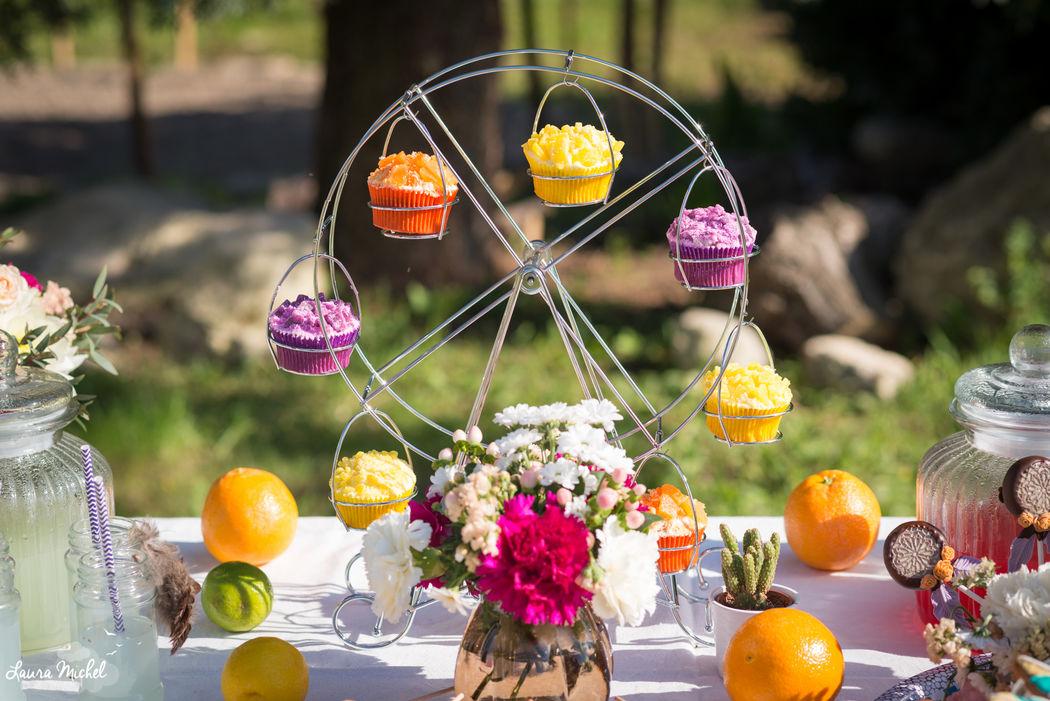 Manège à cupcakes - Mariage Coachella