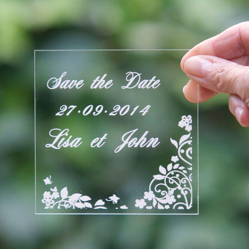 Save the date Plexiglas 10cm/10cm