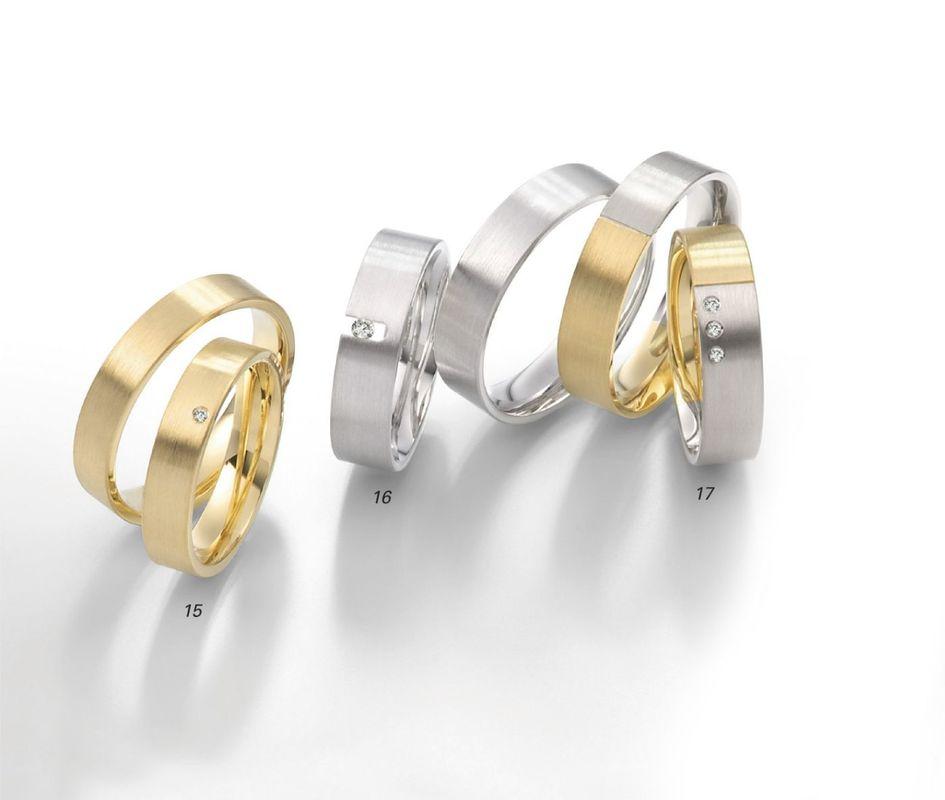 Beispiel: Trauringe Gold, Silber, Bicolor, Foto: Juwelier Uhren Görde.