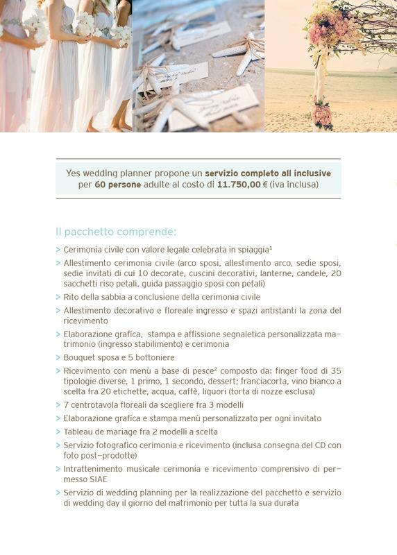 Pacchetto all inclusive matrimonio in spiaggia con valore legale, by Yes wedding planner (a partire da 60 persone)