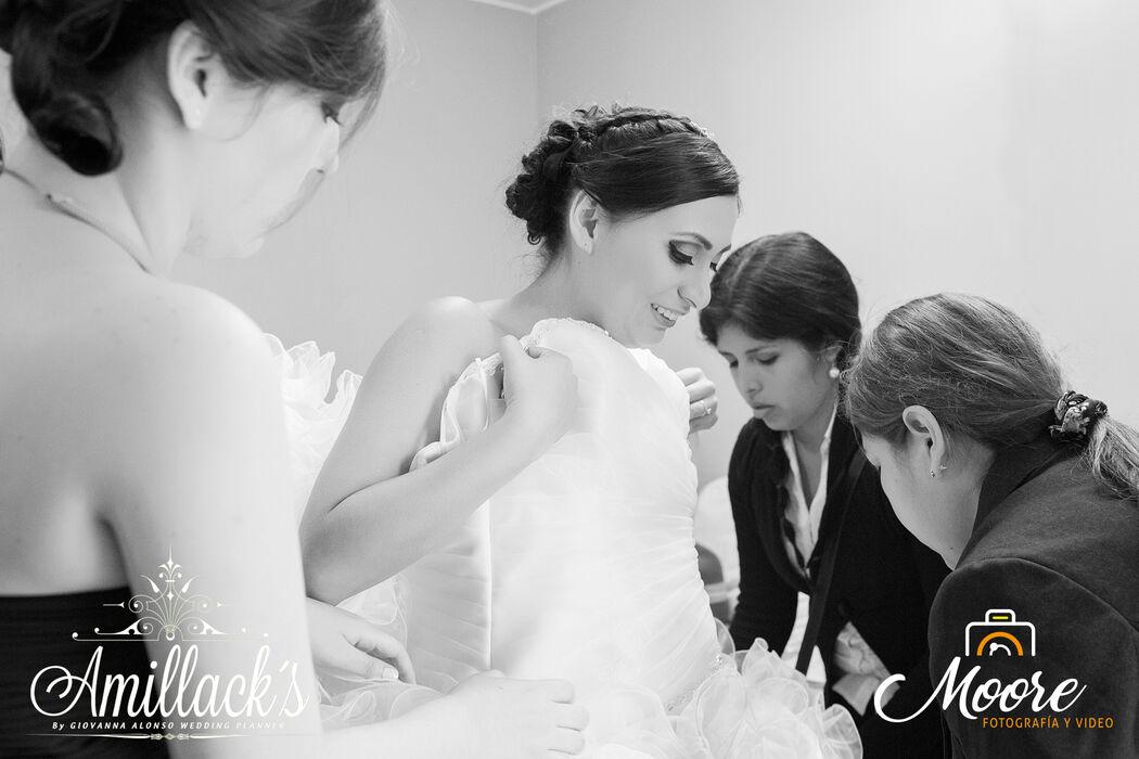 Asesoria wedding planner para la novia Leslie
