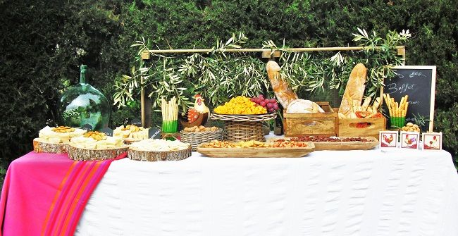 Estación quesos Navarra Catering