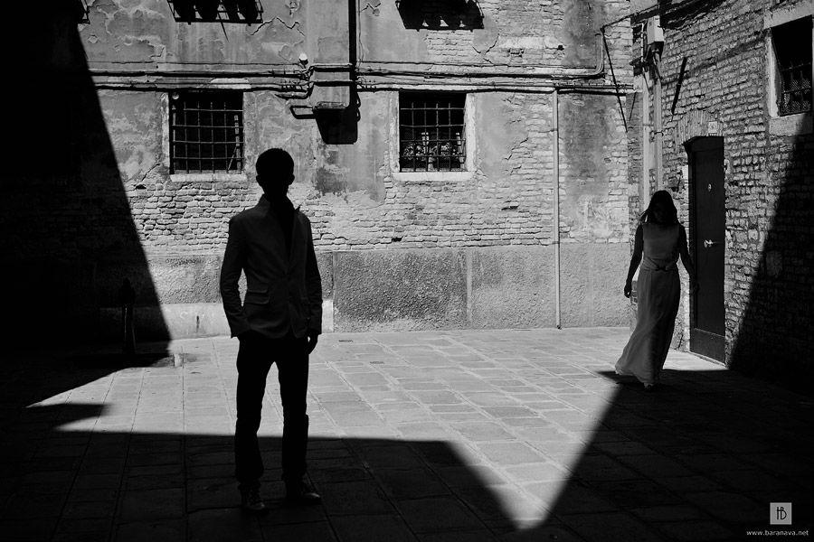 Романтическая фотосъемка в Венеции
