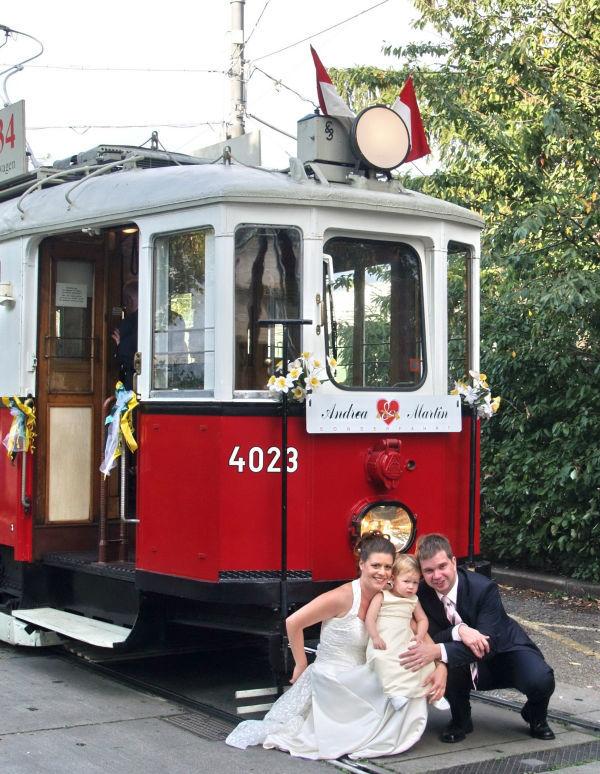 Beispiel: Überraschen Sie Ihre Hochzeitsgäste, Foto: Rent a Bim.
