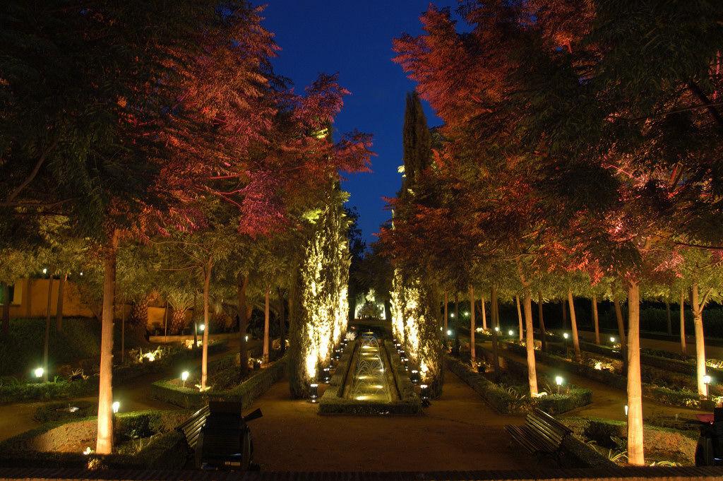 Jardines iluminados