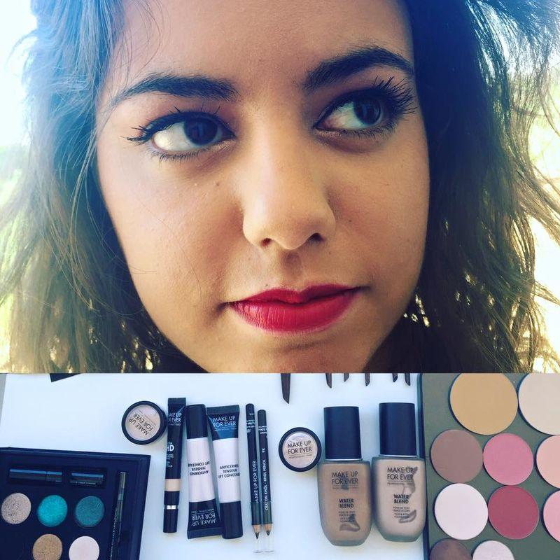 Sofia Ribeiro Make up - olhos em HD com toques sublimes de cor. Lábios de cor forte a fazer sobressair a boca!