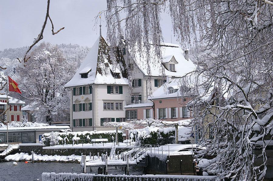 Beispiel: Das Hotel im Winter, Foto: Sonne Romantik Seehotel.
