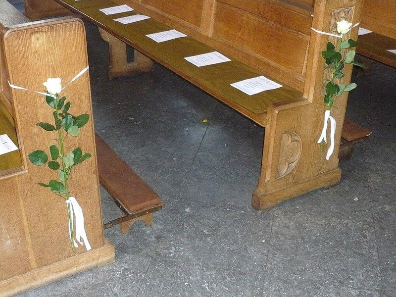 Beispiel: Kirchenschmuck, Foto: Blumen Steinfort.