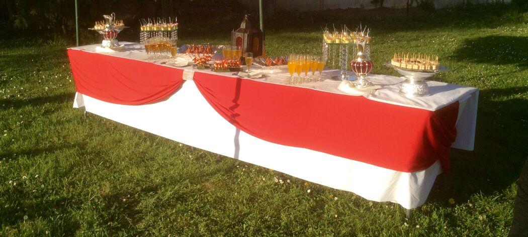 Buffet de cocktail oriental