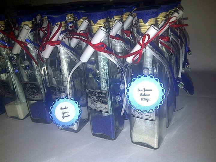 Invitaciones en Botella graduación