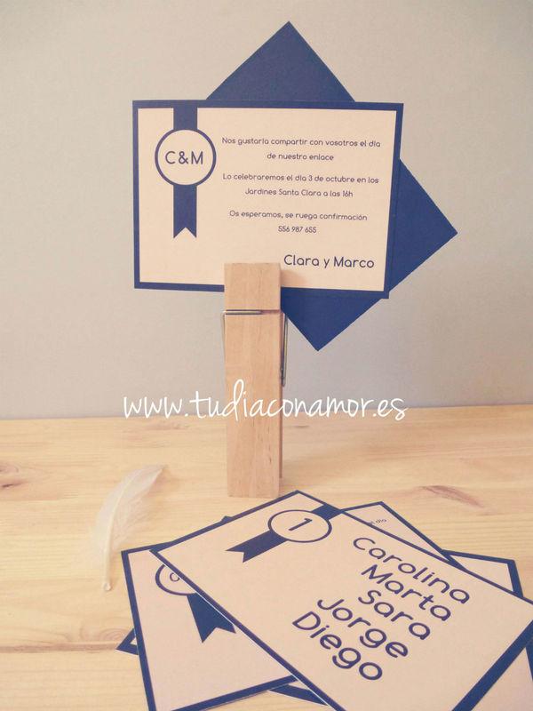 Invitación de boda sencilla