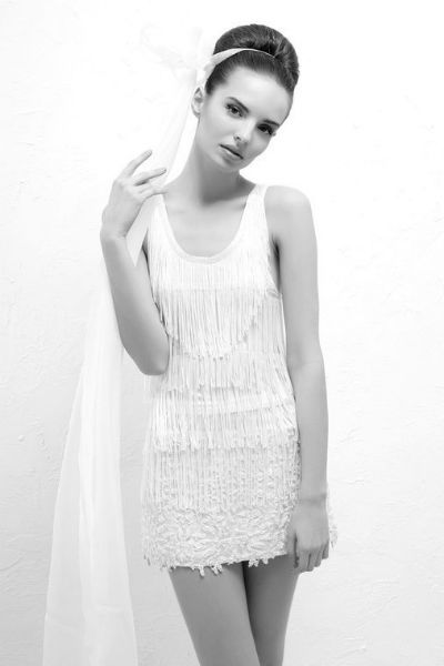 Robe de mariée courte | Veronika Jeanvie