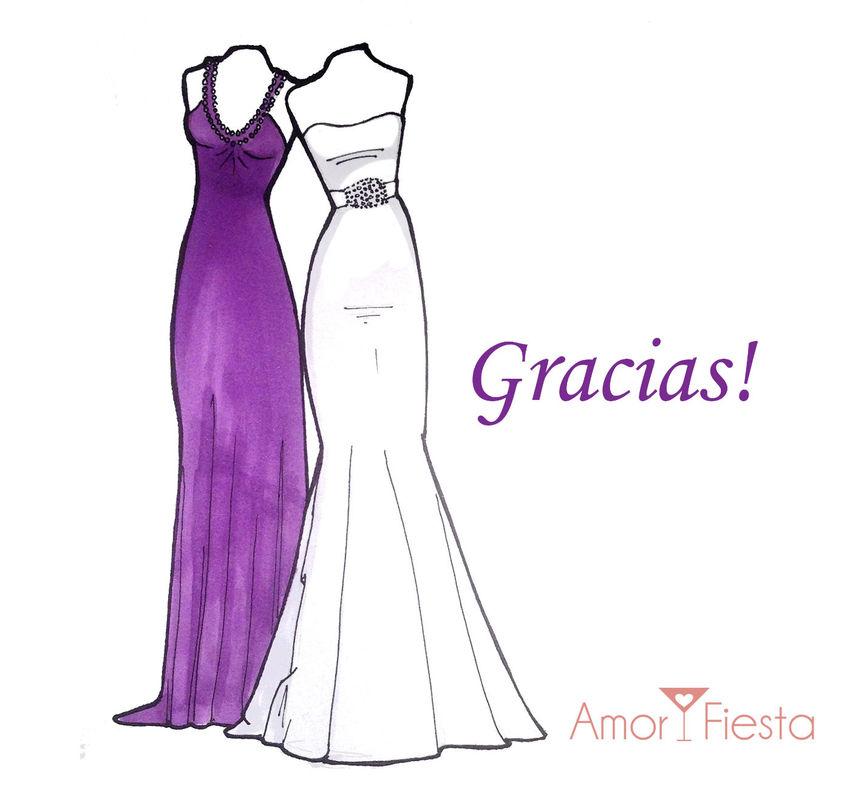 Boceto de tu vestido con dama de honor