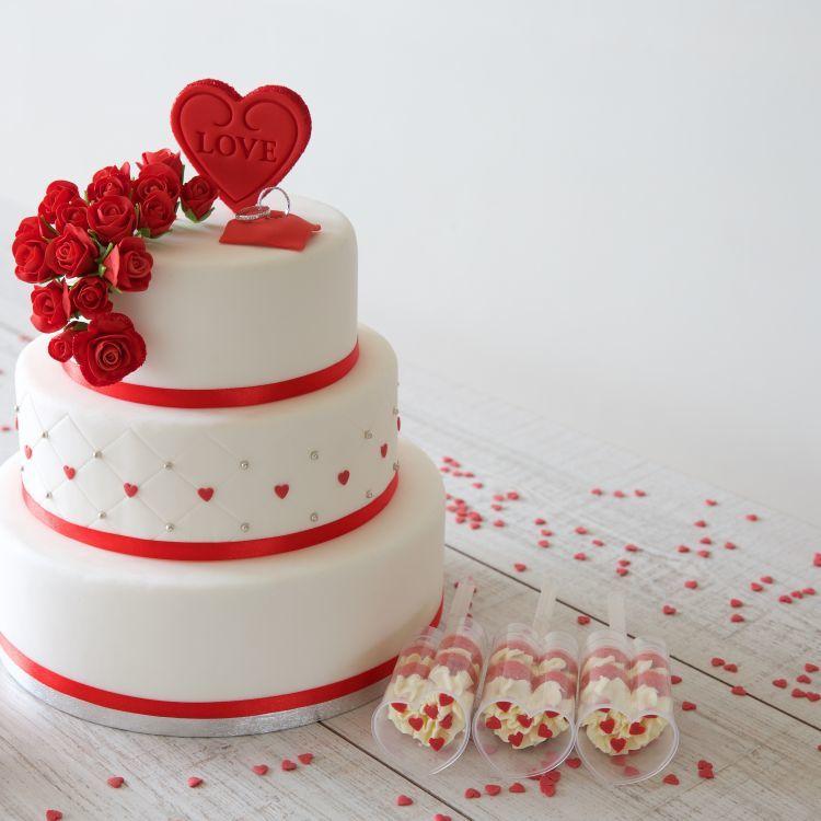 Romantische bruidstaart