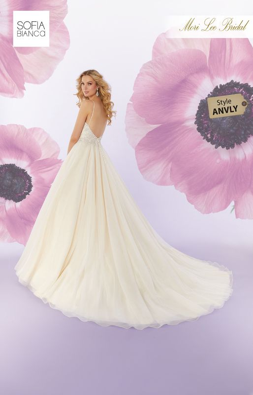 Style ANVLY Stefani  Diamanté and crystal beaded embroidery on a tulle ball gown