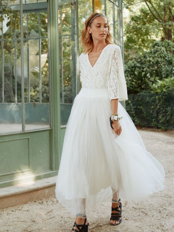 ROSE - Jupon Ballerine de mariée long - Myphilosophy Paris
