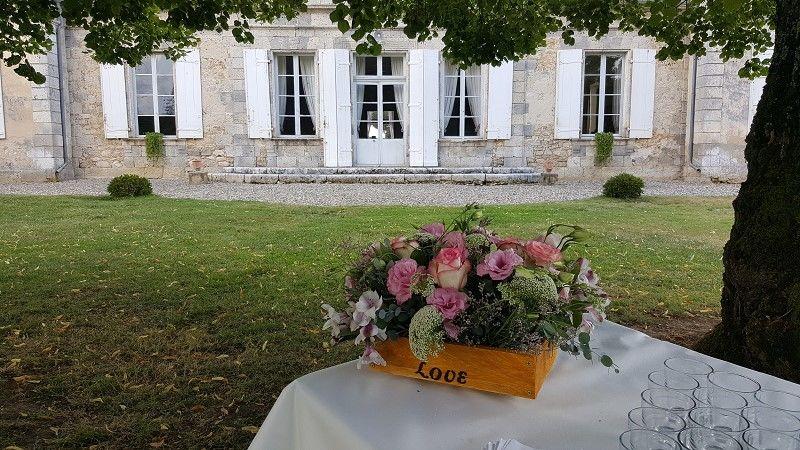 Château La Hitte Façade côté jardin