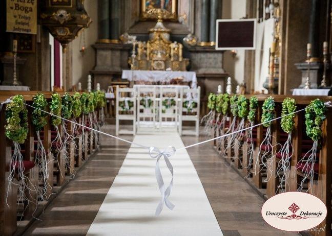 dekoracje ślubne kościołów