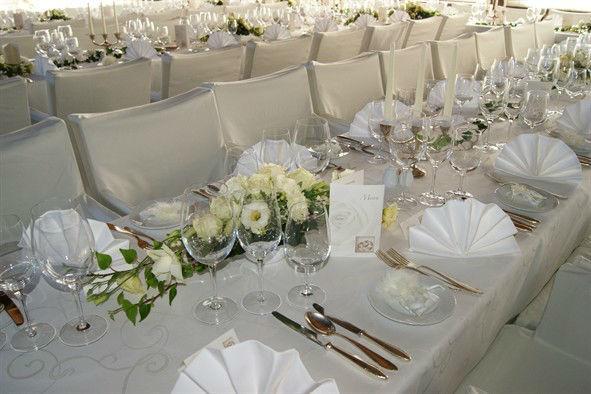 Beispiel: Hochzeitsdekoration, Foto: Burg Landskron.