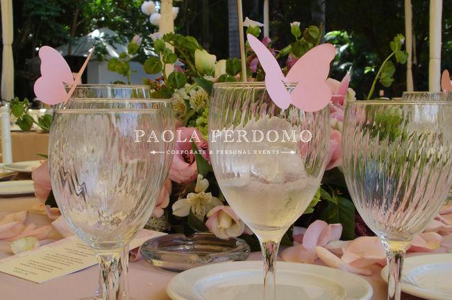 Detalles para la decoración de mesas de boda. Foto: Paola Perdomo
