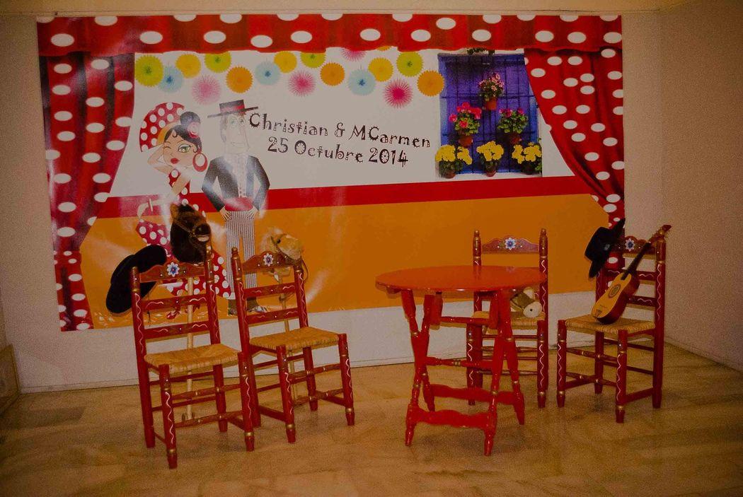 Photocall sevillano Salón Multiusos