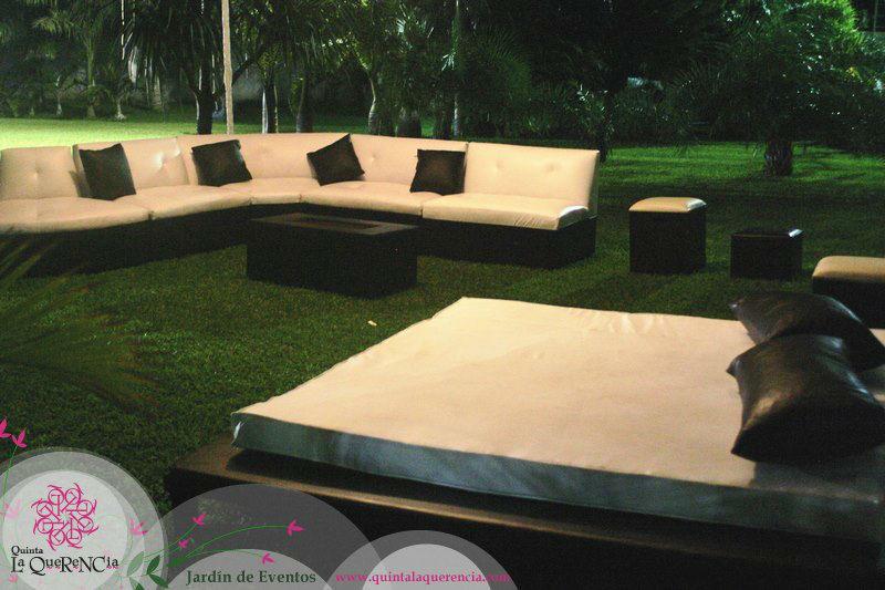 Area lounge en carpa
