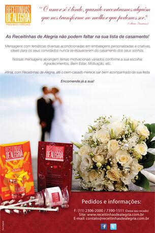 Newsletter Receitinhas de Alegria - Casamento 1