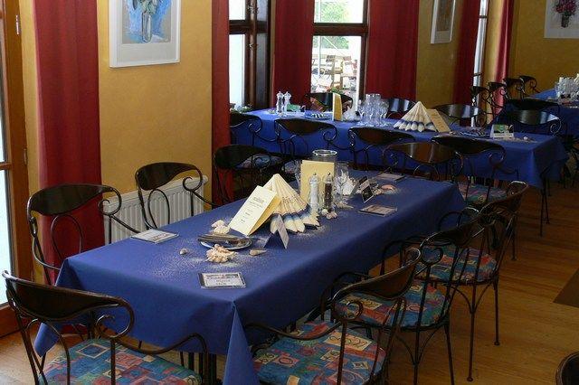 Beispiel: Festtagstafel, Foto: Landgasthof Falkenhorst.