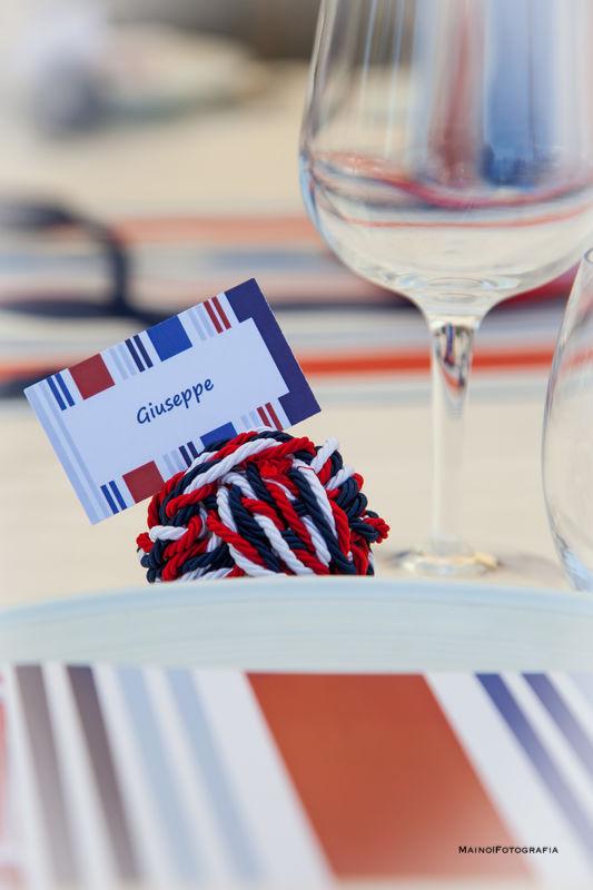 segnaposti tema mare CoRe Eventi per il il tuo matrimonio