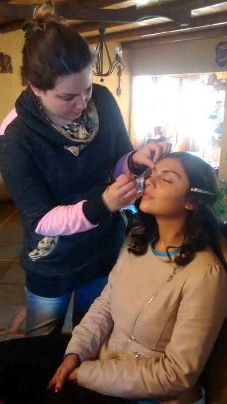 Maquillaje Clo Dehnhardt. Producciones audiovisuales.