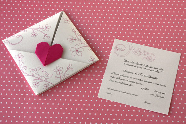 Convite e envelope