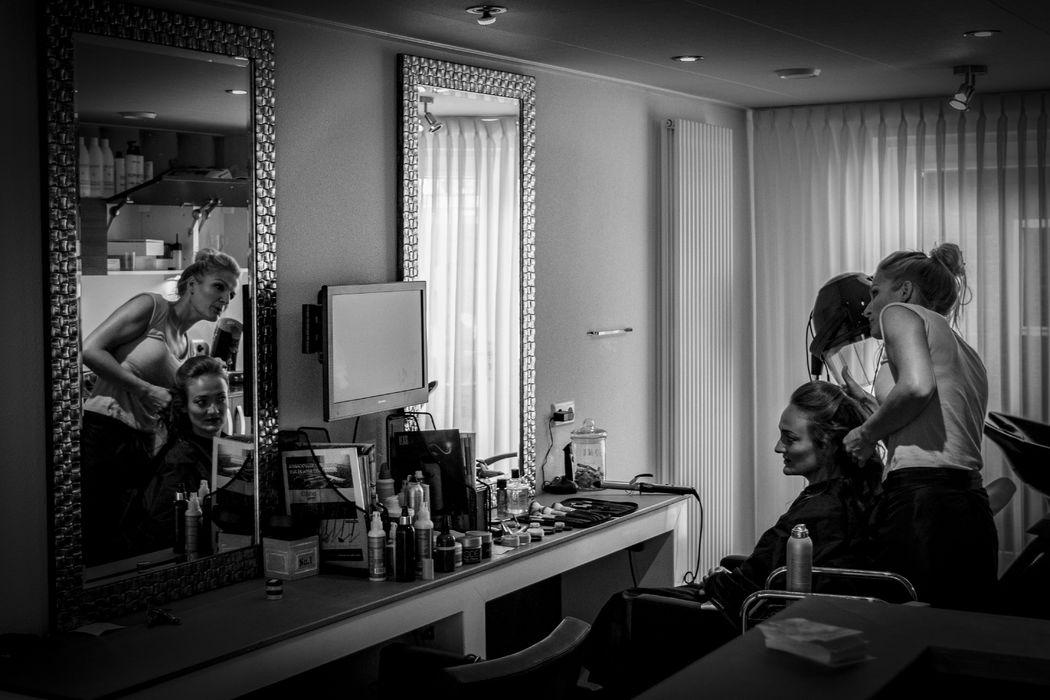 Voorbereiding bij de kapper