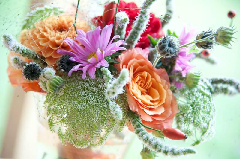 Beispiel: Brautstrauß, Foto: Floraswelten.