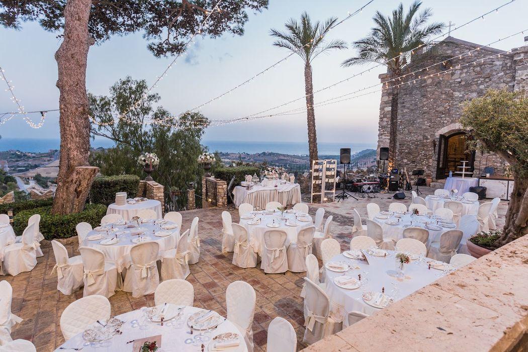Matrimonio all'aperto Castello Chiaramonte