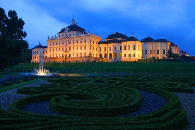 Beispiel: Ansicht bei Nacht, Foto: Schloss Ludwigsburg.