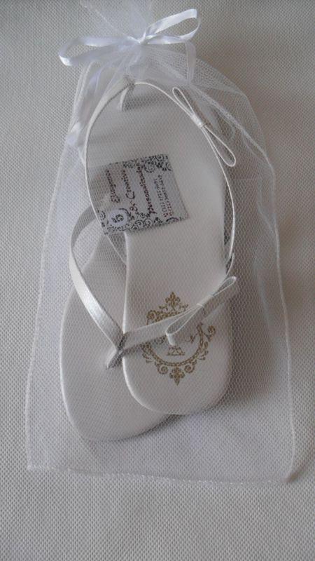 Branco Tradicional Ellegance com Laço Simples e Saquinho de Tule