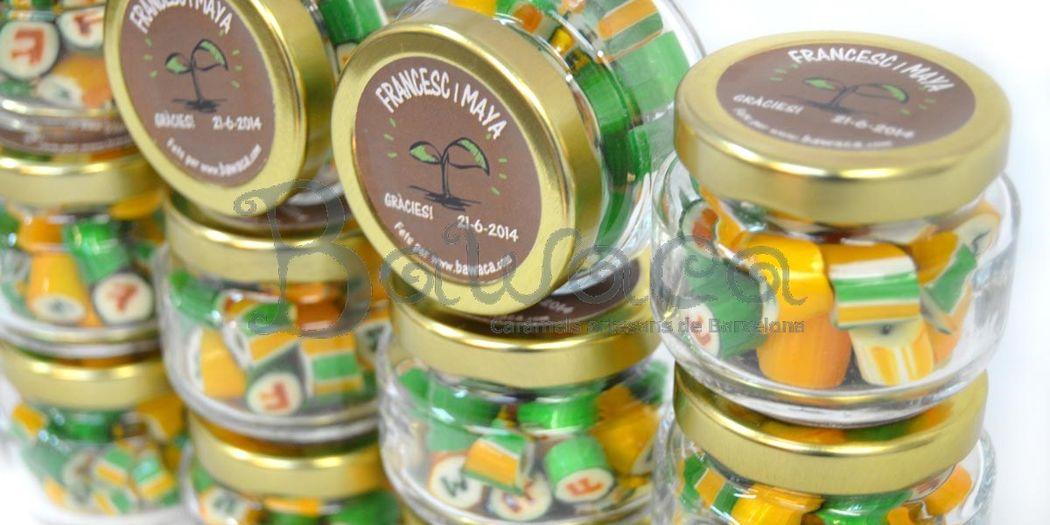 Caramelos personalizados en bote de 40 gr