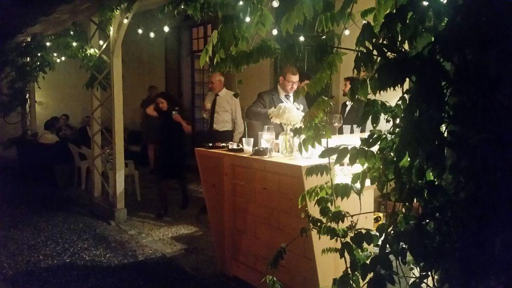 Bar im Schloss Reichenau auf der Terrasse